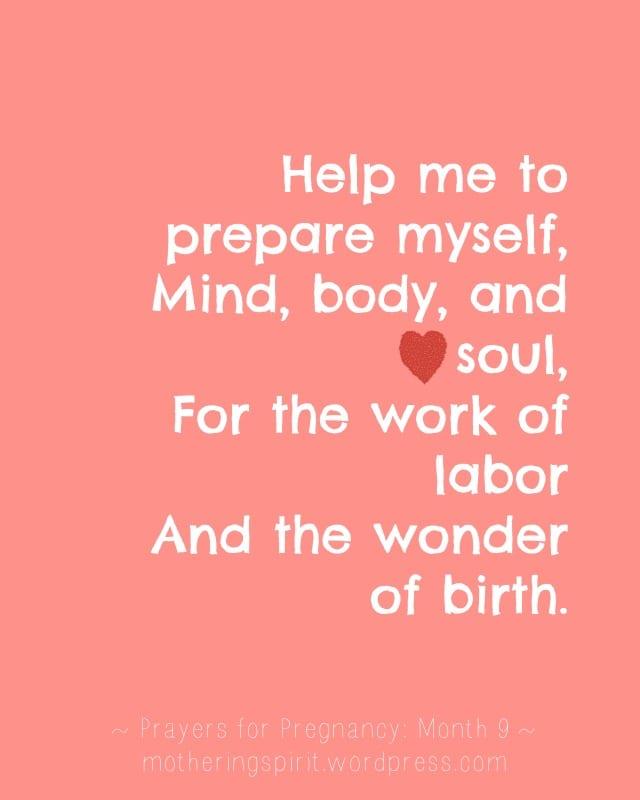 prayers for pregnancy | Mothering Spirit | maternity ebook
